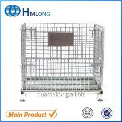 W-1 Stacking foldable wire mesh heavy duty steel cage