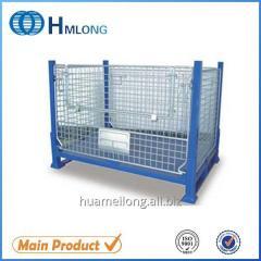 BEM Heavy duty warehouse wire mesh pallet storage box