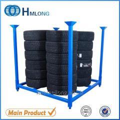 HML6060 Warehouse storage folding steel tire storage rack