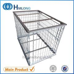 NF-1 Euro stackable folded mesh steel cage pallets