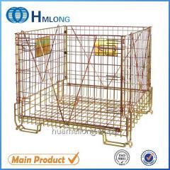 F-22 Warehouse folding storage mesh stillage cage pet preform