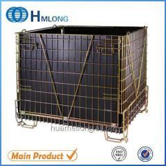 F-28 Warehouse storage mesh folding stacking cage PET Preform
