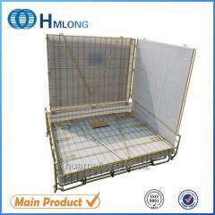 F-22 Warehouse storage wire mesh zinc storage container pet preform