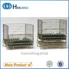 F-5 Logistic folding steel storage cage with
