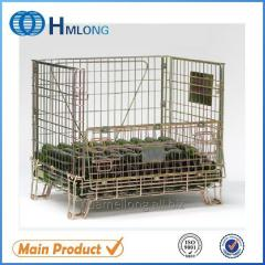 F-1 Industrial wire mesh folding storage cage for