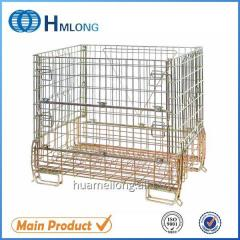 F-16 Metal storage wire mesh galvanized stackable cage  Wine glass bottle