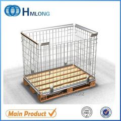 NF-1 Foldable wire mesh steel pallet box container
