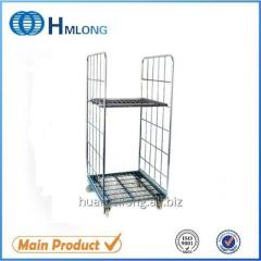 BY-07 Folding storage warehouse wire mesh roll container