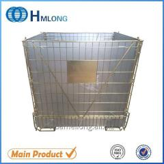 F-22 Stackable wire mesh foldable steel container pet preform