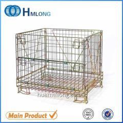 F-10 Industrial foldable storage metal pallet cage wine