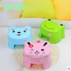 Stackable kids plastic stool animal foot step