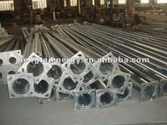 2m-20m galvanized steel post/tubular steel street