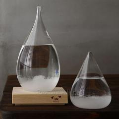 Creative Glass Weather Forecast bottle with Square