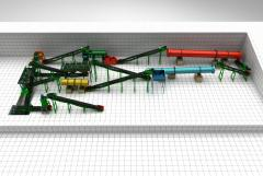 Compound fertilizer production line-20,000 tons