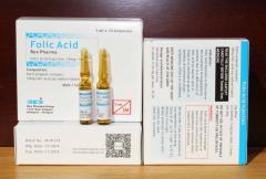 Finished medicines Folic acid injection 10mg/1ml