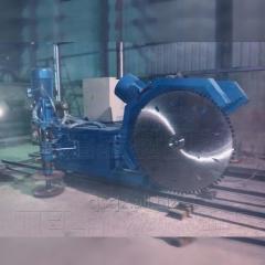 高效石材双向矿山采石切割锯石机械