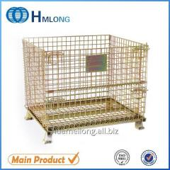 W-1 Stackable wire mesh foldable steel container