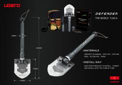LEGEND multi-function camping outdoor shovel of