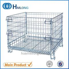 F-17 Stackable wire mesh foldable steel container
