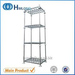 M-1 Warehouse storage steel foldable stacking pallet with posts