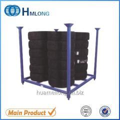 HML6060 Stacking wheel steel pallet truck tyre storage rack