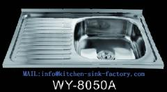8050 Single bowl drainboard kitchen sink oem