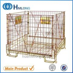 F-22 Foldable wire mesh warehouse steel storage cage