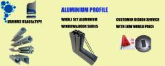 Aluminum profile for window and doors