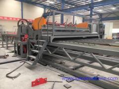 Reinforcing wire mesh welding lines