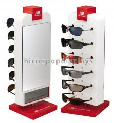 Rotating countertop single sided acrylic sunglass