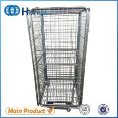 BY-10 4 sided Warehouse storage mesh metal roll container