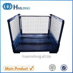 T-7 Warehouse steel pallet wire mesh container auto parts