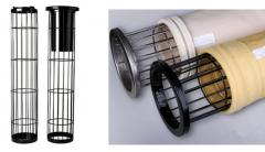 Filter bag and cage for dust collector