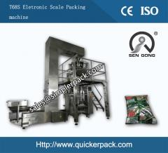 High Speed Automatic Corn Flakes Packaging Machine with 10 Electric Scales