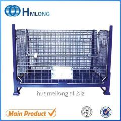 BEM Warehouse folding wire mesh metal pallet cage