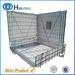 F-28 PET Preform Galvanized foldable mesh metal storage cage