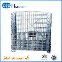 W-10 Industrial large folding steel wire container