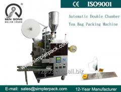 Double Chamber Tea Bag Packing Machine with Thread