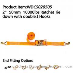 "WDCS020505 2"" 50mm 10000lbs Ratchet Tie down with"
