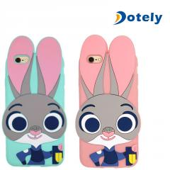Cartoon 3D Rabbit Silicone Skin Cases for