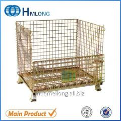 W-1 Heavy duty mesh steel storage cage with wheels