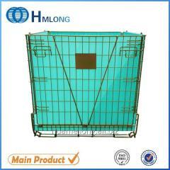 F-22 Stacking storage mesh folding cage pallets pet preform