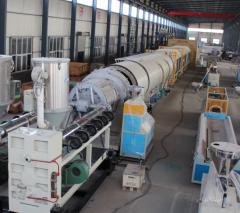 Экструзионная линия по производству труб из ПЭ большого диаметра для водопроводов и газопроводов
