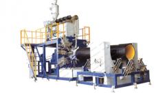 Экструзионная линия для производства крупнокалиберных пустотелых спиральных труб ПНД