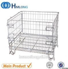 F-19 Steel warehouse storage cage  Stack welded folding