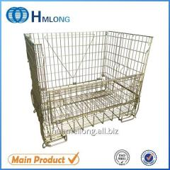 F-16 Warehouse storage steel wire mesh security cages backet