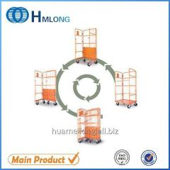 JP-1 Galvanized steel storage 3 side foldable roll cage