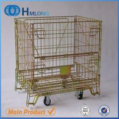 F-1 Industrial foldable steel container with