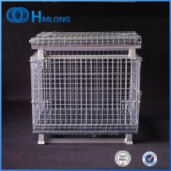 W-1 Industrial wire mesh folding storage cage