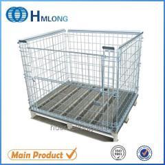 NF-1 Warehouse storage metal pallet mesh cage